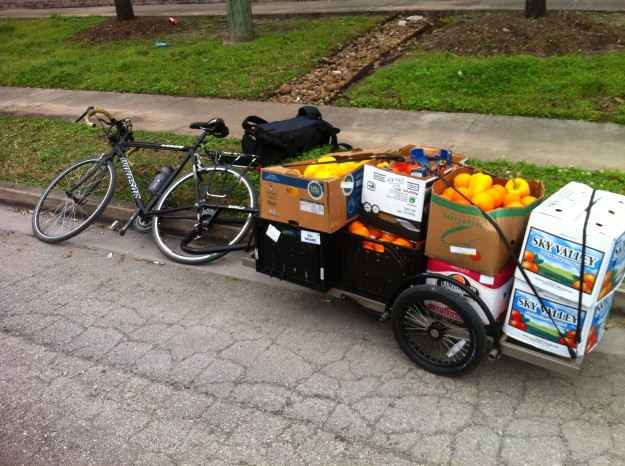 Fully loaded Bill Bike Trailer